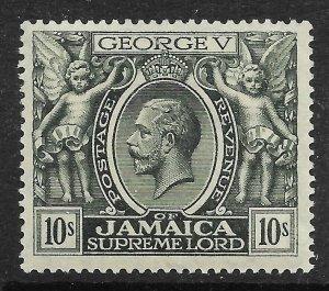 JAMAICA SG106 1922 10/= MYRTLE-GREEN MTD MINT