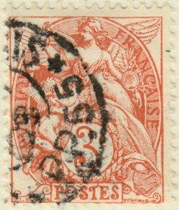 FRANCE - Yv.109a - 3c rouge-orange type Blanc t.IB - Obl. Imprimés Paris PP55