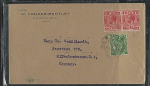 MALTA  (PP2708B)  1930 KGV 1DX2+1/2D  TO GERMANY