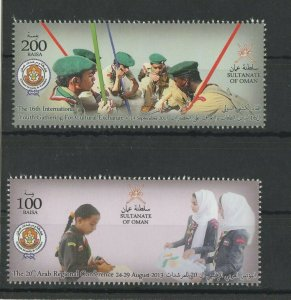 OMAN 2013 SCOUTING  BOYS AND GIRLS SET MINT NH