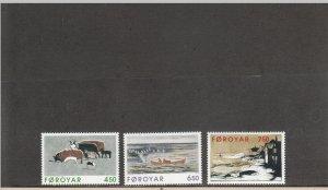 FAROE ISLANDS 307-309 MNH 2014 SCOTT CATALOGUE VALUE $5.25