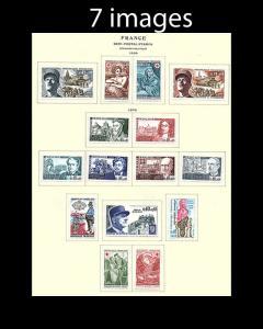 VINTAGE: FRANCE 1960'S OG/ LH SCOTT #ASST $96 LOT #1960P3B