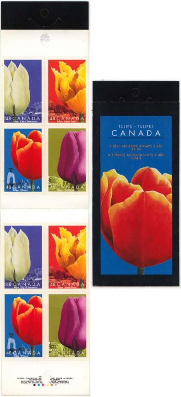 Canada - 2002 Tulips Complete Booklet #BK257a