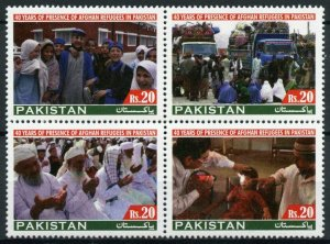 Pakistan Stamps 2020 MNH Presence of Afghan Refugees 40 Years 4v Block