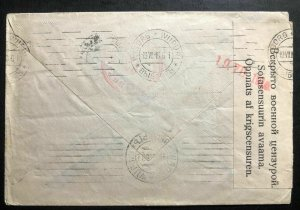 1915 Helsinki Finland Russia Occupation WW1 Censored Cover To Karla