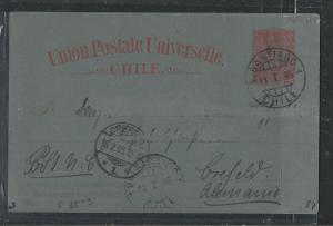 CHILE  (PP1104B)  1895 COLUMBUS 3C PSC SANTIAGO TO GERMANY