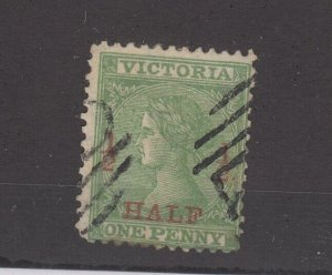 Victoria State QV 1873/4/1/2d On 1d p12 SG175a Fine Used JK2354