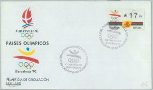 82730 - SPAIN - Postal History - FRAMA LABEL on COVER: OLYMPIC GAMES  1992