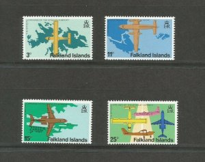 Falkland Islands 1979 Opening Of Stanley Airport Unmounted Mint Set SG 360/3