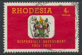 Rhodesia   SG 485   SC# 325  Used  Responsible Government 1973 see details