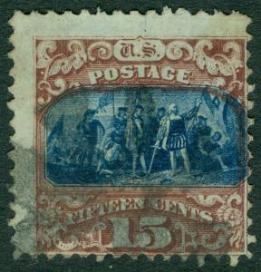 EDW1949SELL : USA 1869 Scott #119 Used. Catalog $210.00