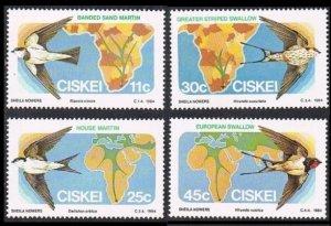 1984 Ciskei 61-64 Migratory birds