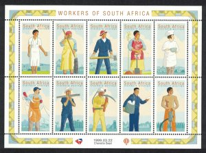 South Africa Workers Day Sheetlet of 10v SG#1121-1130