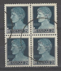 COLLECTION LOT # 4959 ITALY #230 WMK 140 BLOCK OF 4 1929 CV+$140