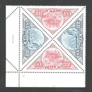 3130-31 Pacific 97  Plate Block Mint/nh (Free Shipping)