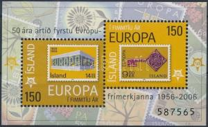 Iceland stamp 50th anniversary of Europa CEPT stamp block 2006 MNH WS177212