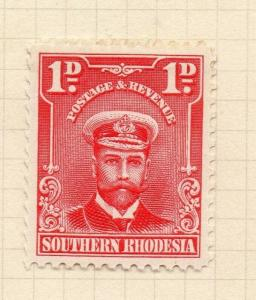Southern Rhodesia 1929 Admiral Issue Mint Hinged 1d. 294129