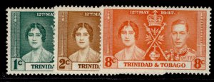 TRINIDAD & TOBAGO GVI SG243-245, CORONATION set, M MINT.