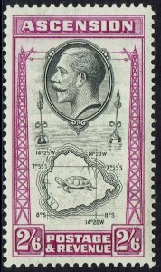 ASCENSION ISLAND 1934 KGV TURTLE AND MAP 2/6