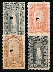 CANADA BRITISH COLUMBIA BCL5-8 USED 2ND SERIES, LAW