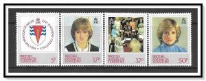 British Antarctic Territory #92-95 Princess Diana Set MNH