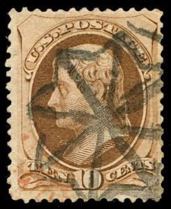 momen: US Stamps #161 Used Weiss GE-EN3 NYFM Cancel