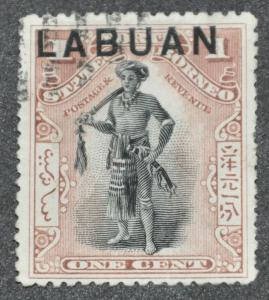 DYNAMITE Stamps: Labuan Scott #72 - USED