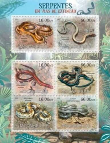 Mozambique MNH S/S Endangered Snakes 2012