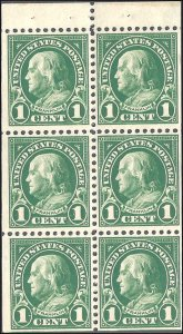 552a Mint,OG,NH... Booklet Pane... SCV $12.50