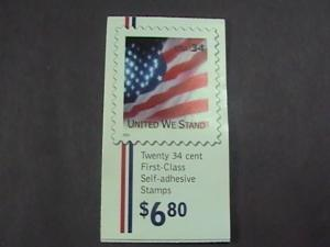 U.S.# 3549- BK287-MNH--COMBO BOOKLET OF 20--FLAG/UNITED WE STAND---2001