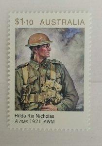 Australia 2020  A Man by Hilda Rix Nicholas MNH**
