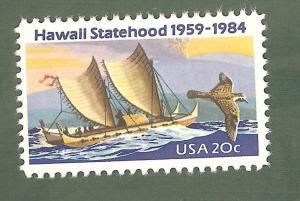2080 Hawaii Statehood US Single Mint/nh (Free Shipping)