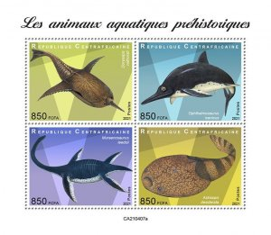 C A R - 2021 - Prehistoric Water Animals - Perf 4v Sheet - Mint Never Hinged