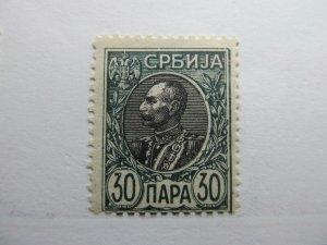 Serbien Serbia 1905-11 30p Perf 11½ Fine MNH** A5P18F373