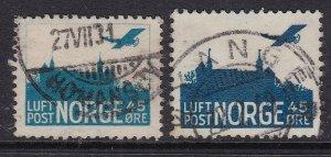 NORWAY^^^^^BOB  # C1A+ C2 used AIRPOSTS    @ ha2342nor