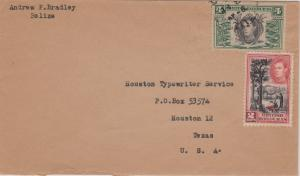 British Honduras 2c KGVI Chicle Tapping and 4c KGVI Local Products c1945 Beli...