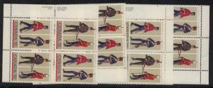 Canada - 1983 Regiments Imprint Blocks mint #1007-1008