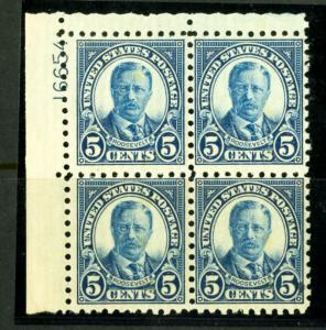 US Stamps # 586 5c T. Roosevelt F VF OG NH Scott Value $425.00