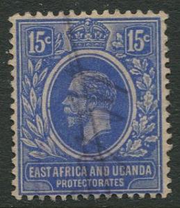 East Africa & Uganda - Scott 45 - KGV Definitive -1912 - Used -Single 15c Stamp