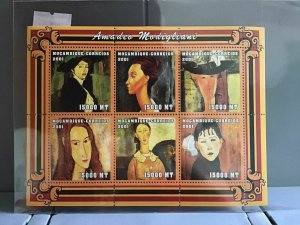 Mozambique 2001 Amadeo Modigliani  mint never hinged stamps sheet R26092