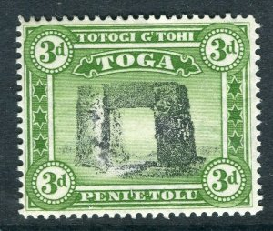 TONGA; 1897 early Pictorial issue Mint hinged 3d. value