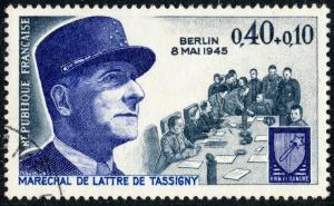 FRANCE 1970 Yv.1639/Mi.1712 0,40+0,10fr Maréchal de Lattre de Tassigny - Obl TB