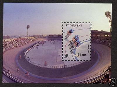 St Vincent Seoul Olympics 1988 Sheet MNH Olympic Sports, Cycling
