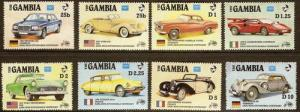 Gambia - #620-627 - MNH - 1986 - Autos & Flags -SCV-6.40
