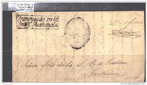 O) 1861 GUATEMALA, PRESTAMP, FRANQUEADO ANTIGUA GUATEMALA,