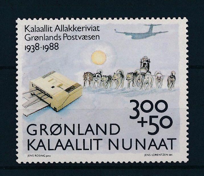 [29462] Greenland 1988 Animals Mail by Dogsleigh Plane MNH