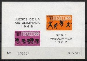 1967 Mexico 985a Summer Olympics MNH S/S