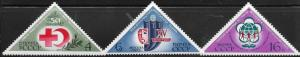 RUSSIA  RUS-20  A SET OF  3  MH STAMPS  RED CROSS  4, 6, 16K