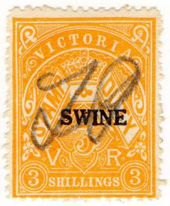 (I.B) Australia - Victoria Revenue : Swine Duty 3/- (1928)