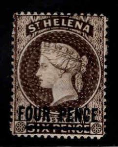Saint Helena Scott 38a inverted CA wmk 1894 MH* original gum pencil marks in gum